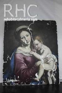 Lienzo de Virgen con Niño