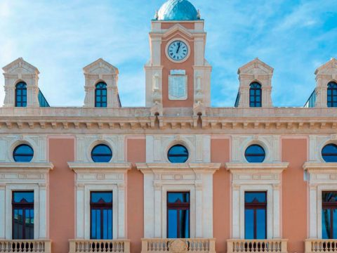 Restaruation front Town Hall Almería